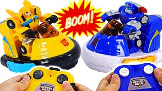 Фото Transformers Rescue Bots Academy Bumblebee Vs Chase Bumper Cars Rc  Dudupoptoy