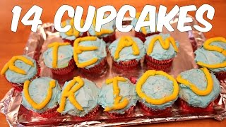 One Man. One Minute. 14 Cupcakes.