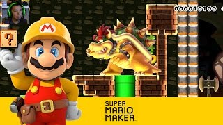 Super Mario Maker: Infilitrate Bowser's Throne Room [Community Levels] - Wii U Gameplay