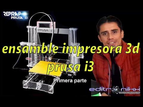 prusa i3  impresora 3d - ensamble | editronikx