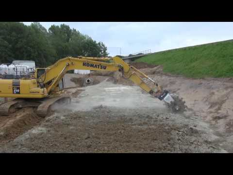 Soil Stabilization With A Excavator