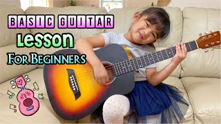 Basic Guitar Lesson F๐r Kids | How to Play Basic Guitar Chords
