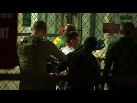 Raw: School Shooting Suspect Brought To Jail