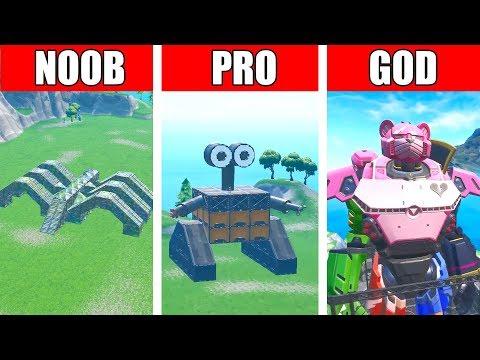 Fortnite NOOB vs PRO vs GOD: ROBOT vs MONSTER EVENT CHALLENGE in Fortnite