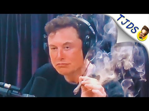 Elon Musk Smokes Weed On Video & Stock Drops!