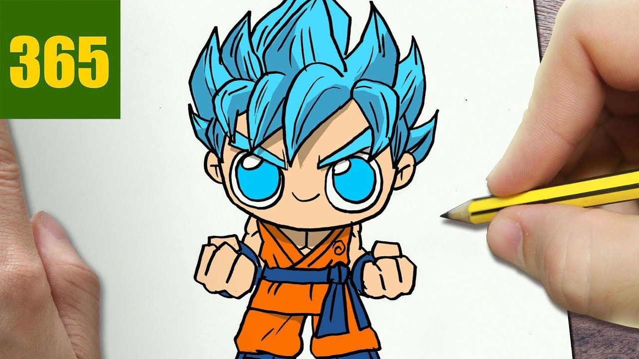 How To Draw A Goku Cute Easy Step By Step Drawing Lessons For Kids