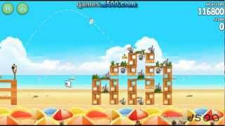 Angry Birds Rio Golden Beach Ball 5 All Stars Walkthrough
