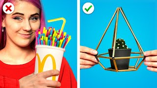 RECYCLE IT ! 9 HOME DECOR IDEAS  &amp Clever DIY Room DECORATING HACKS by Crafty Panda