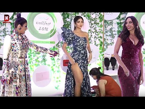 Shilpa Shetty, Raveena Tandon, Lulia Vantur Arrives At ASIA FIT & FABULOUS AWARDS 2018