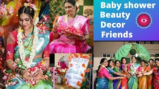 Dubai lo Traditional Sreemantham🤰🧿  Friend Baby Shower💞 🌸Beauty,Decor,friends,food Priya Dubai vlogs