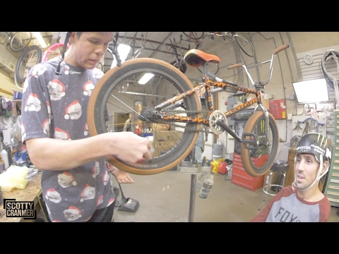 How to change a back flat tire on a bike