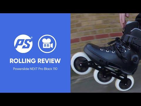 Powerslide Next Pro Black 110 Inline Skates - Rolling Review