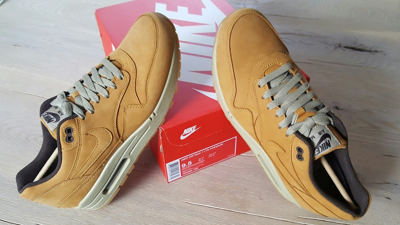new styles dafb1 9fe03 unboxing unpacking Nike Air Max 1 LTR premium - leather
