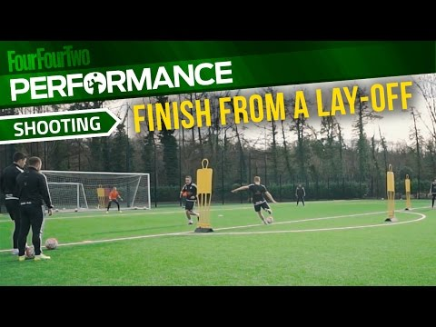 Soccer shooting exercise | How to finish from a lay-off drill | Swansea City Academy