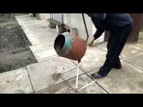 Бетономешалка своими руками с ручным приводом. concrete mixer with manual drive