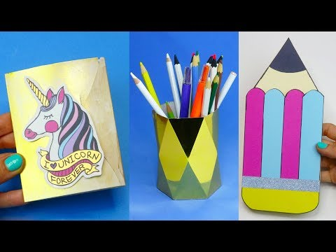 7 DIY School Supplies | Easy DIY Paper crafts ideas