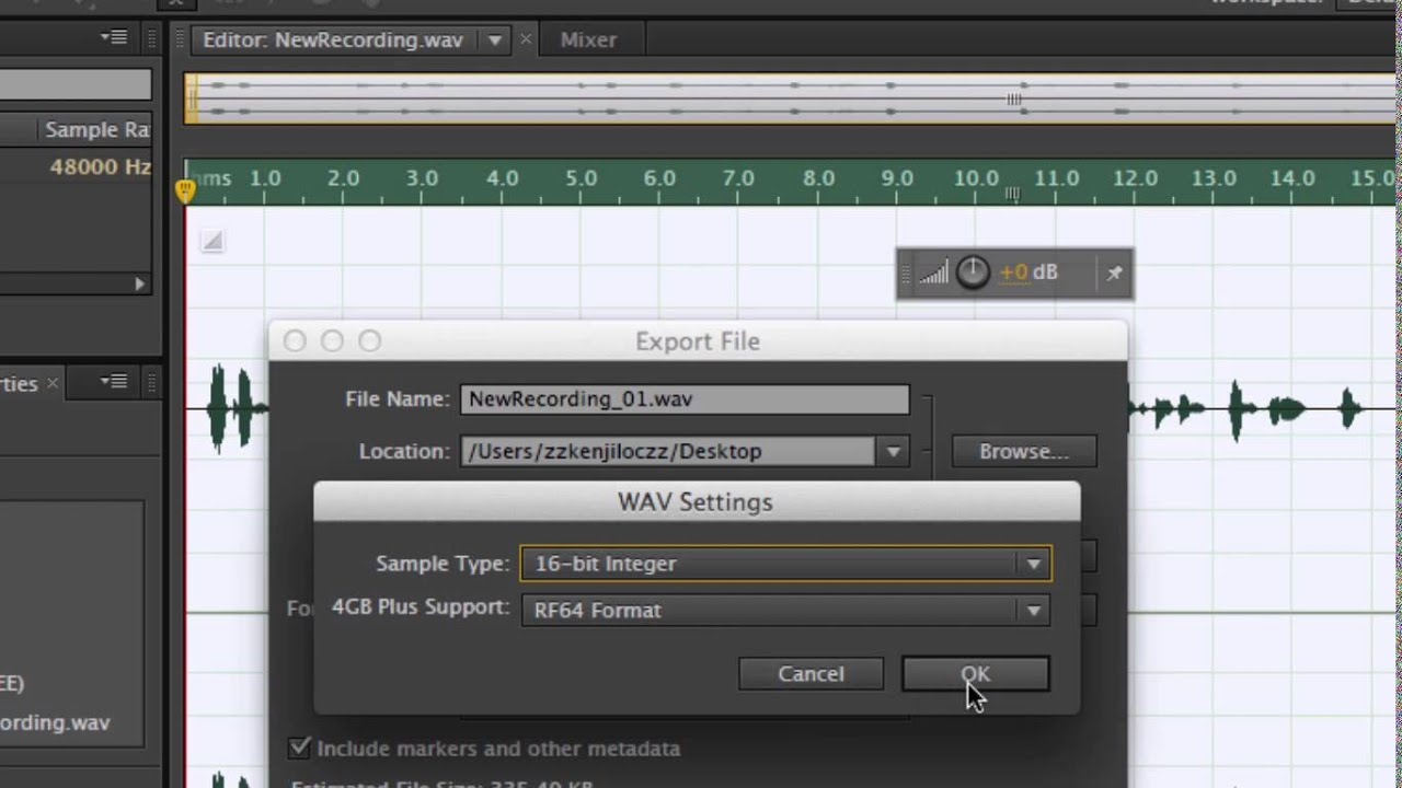 [ Tutorial 7 ] how to make a recording, greeting fusionpbx freeswitch with  Adobe Audition