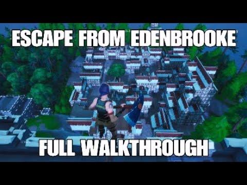 ESCAPE FROM EDENBROOKE - Fortnite Adventure Map (Full Walkthrough ...