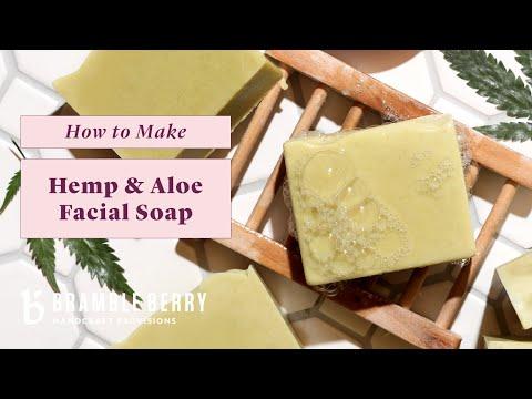 Anne-Marie Makes Hemp & Aloe Facial Soap – Gentle & Fragrance Free | Bramble Berry
