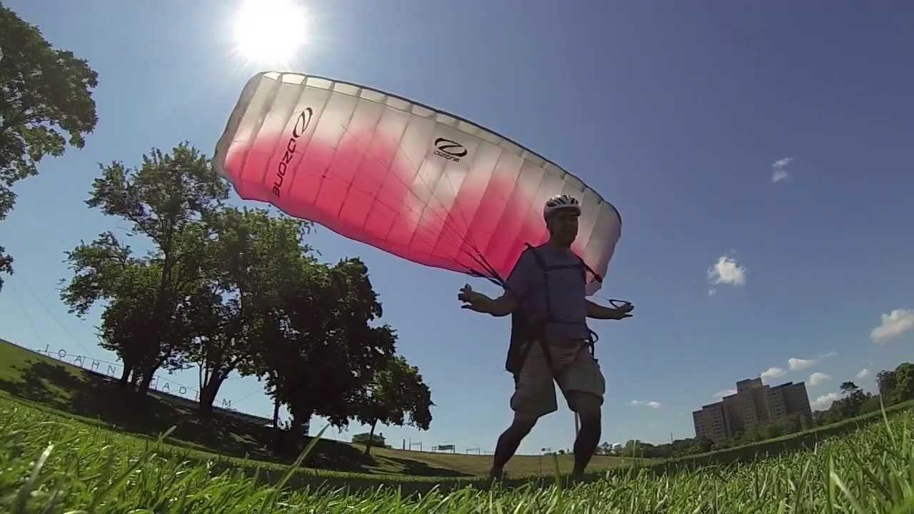 Paraglider ground handling practice