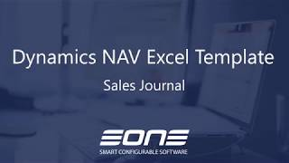 Excel Integration with Dynamics NAV - Sales Journal