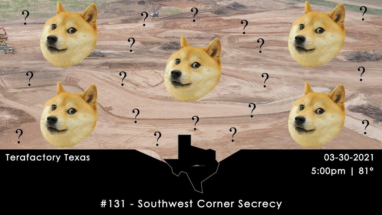 Tesla Terafactory Texas Update #131 in 4K: Southwest Corner Secrecy - 03/30/21 (5:00pm | 81°F)