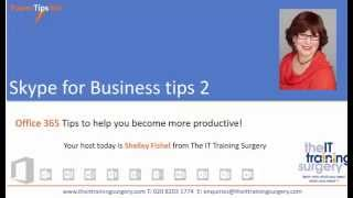 Skype For Business Tips  - Meet Now and share a presentation