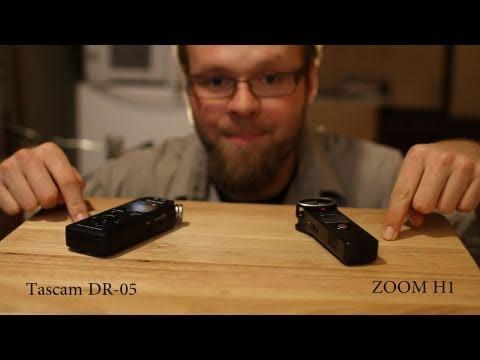 Tascam DR-05 v.s. Zoom h1 Test and Review - DSLR FILM NOOB