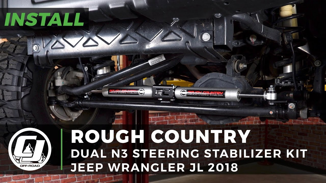 Jeep Steering Stabilizer >> 2018 Jeep Wrangler Jl Install Rough Country N3 Dual Steering