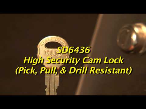 SD6436 High Security Cam Lock (Pick, Pull and Drill Resistant)