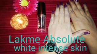 Lakme absolute white intense skin cover SPF 25 ll Lakme absolute foundation Review ll Magical