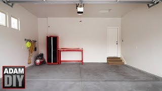 Garage Makeover - Finishing Walls & adding a Workspace