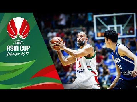Lebanon v Korea - Full Game - FIBA Asia Cup 2017