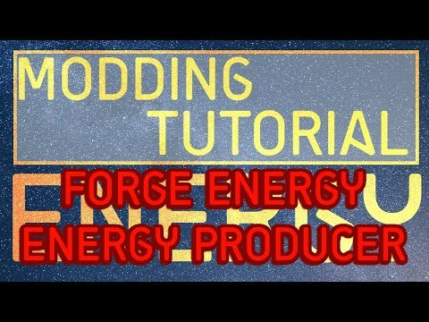 Minecraft Modding Tutorial | Energy - Forge Energy - Energy Producer (CJCore) (1.10.2,1.11.2)