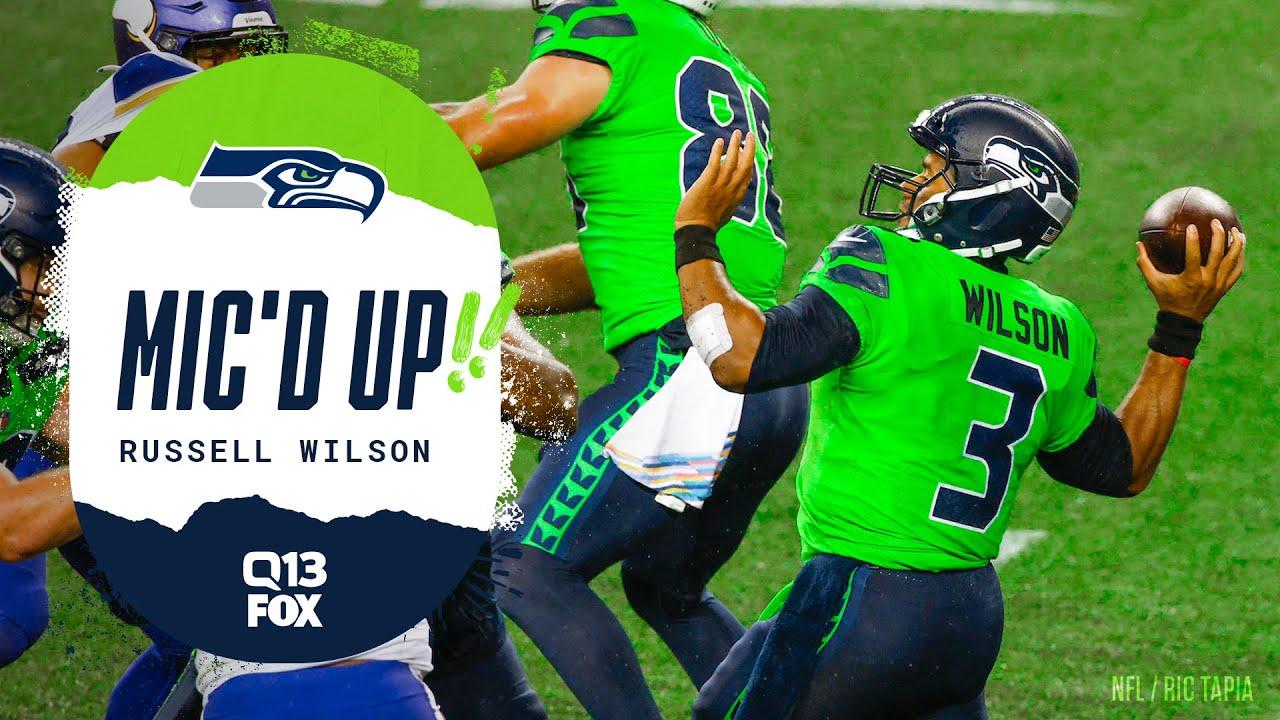 Russell Wilson Mic'd Up vs Vikings   Seahawks Saturday Night