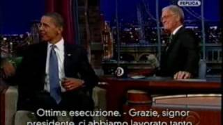 (22/09/2009) Late Show with David Letterman - Letterman intervista Obama (sub ita)