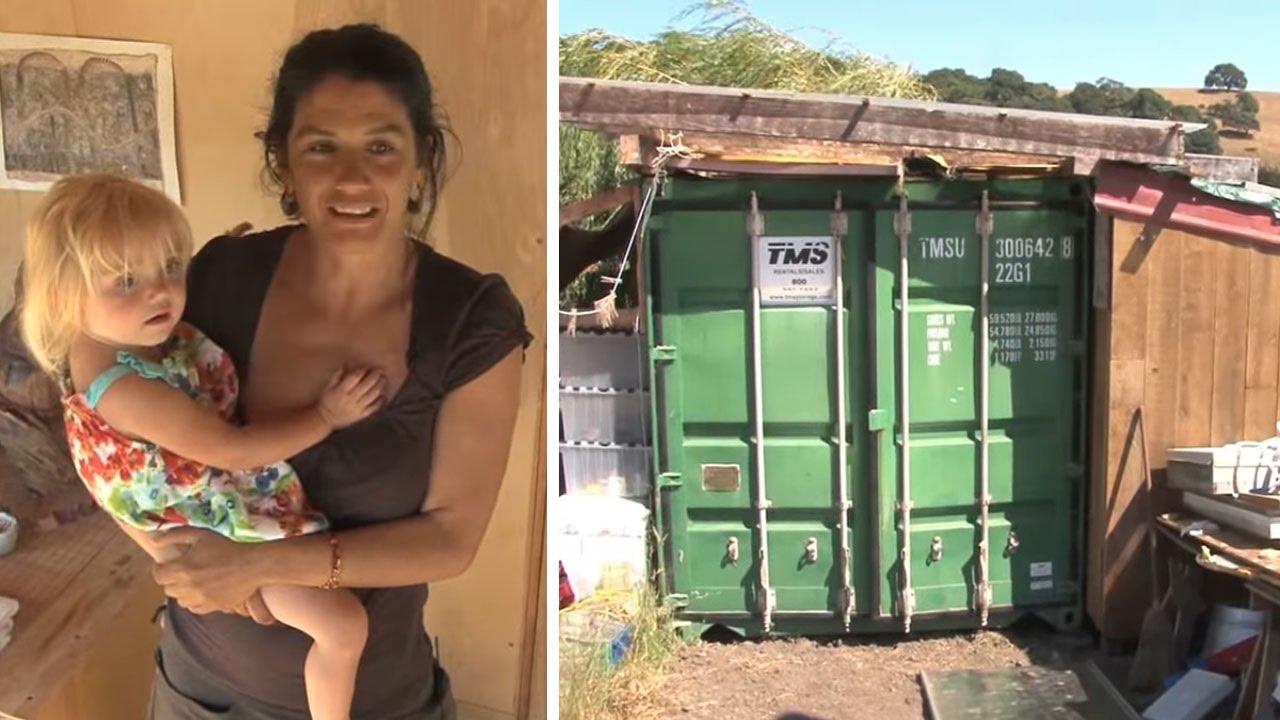 La criticaban por vivir en un contenedor con sus 4 hijas pero cuando lo vieron por dentro todos - Vivir en un contenedor ...