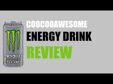 Energy Drink Review 132 Monster Unleaded Caffeine Free Youtube