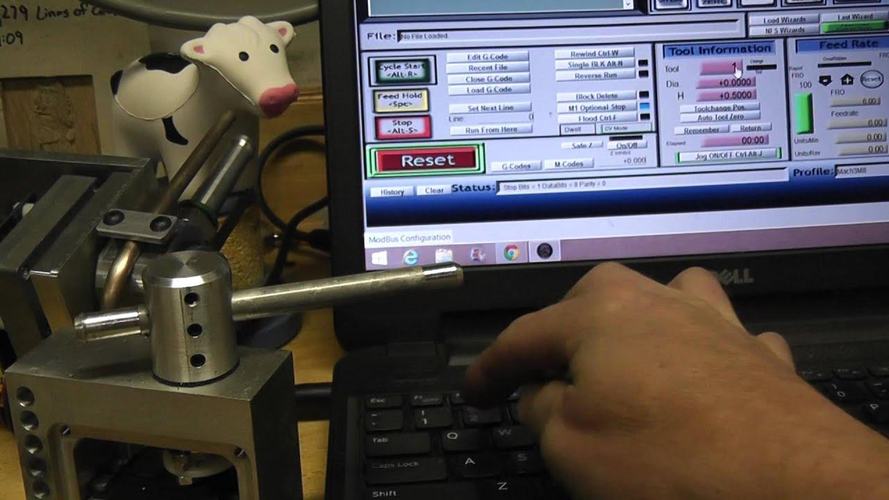 coolant nozzles under mach3-modbus-arduino control