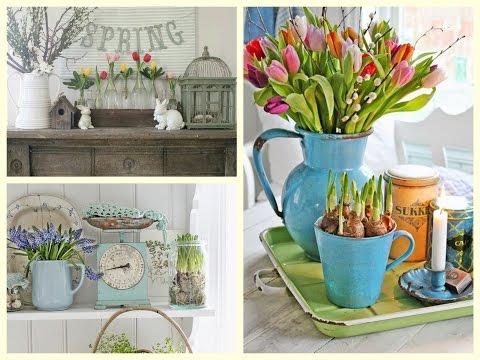 Farmhouse Spring Decor Ideas - Rustic Spring Vignettes - Spring Decorating Ideas
