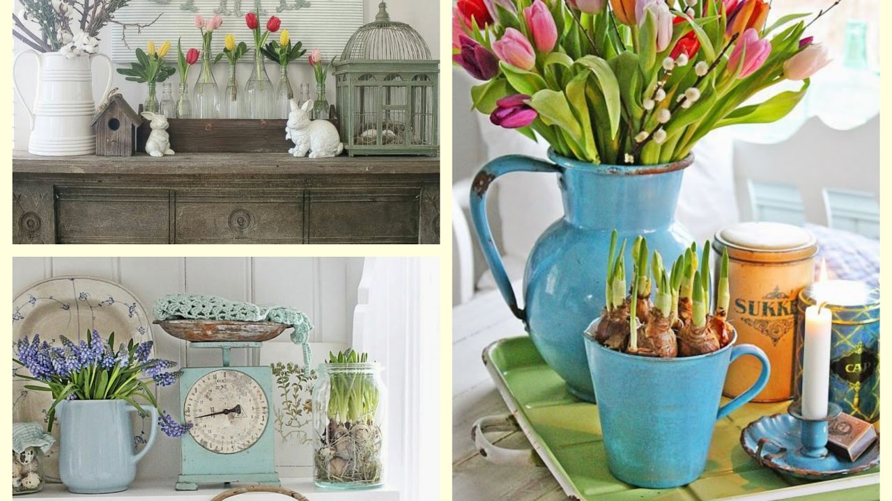 Farmhouse Spring Decor Ideas Rustic Spring Vignettes Spring