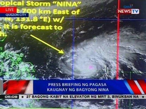 NTVL: Press briefing ng PAGASA kaugnay ng Bagyong Nina