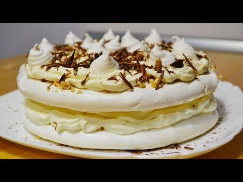 Торт Безе с Кремом \