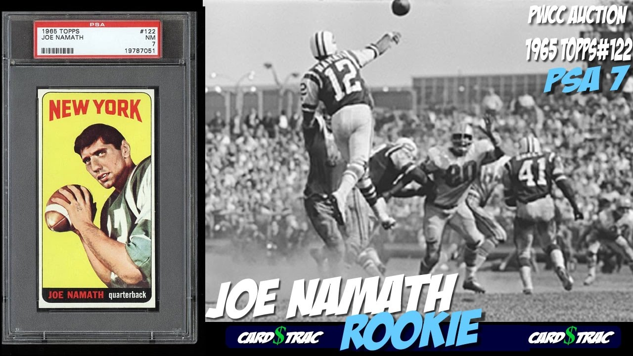 1965 Joe Namath Rookie Card Topps 122 For Sale Graded Psa 7