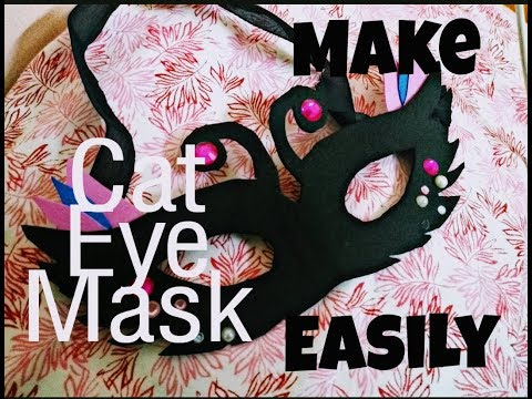 How to make beautiful cat eye mask | DIY projects | craft ideas | kids play mask