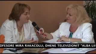 Dr  Mira Rakacolli, Dean of Medical Faculty in Titana University on Alba Life TV