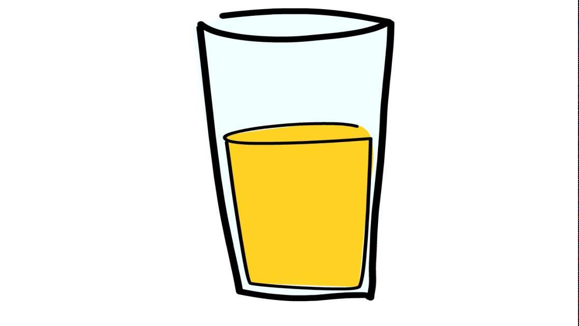 Cómo dibujar un zumo de naranja - YouTube