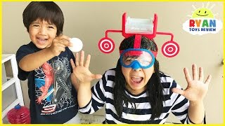 DUNK HAT CHALLENGE EXTREME! Gross and Messy Family Game Night!