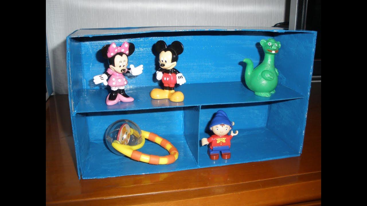 Mini estanteria organizador con una caja de zapatos - Cajas para manualidades ...