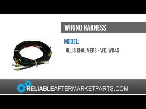 new allis chalmers tractor wd wd45 gas wiring harness ac